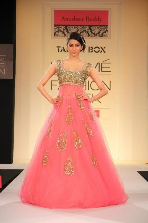 Indian Bridal Fashion Reception Dresses Pink Lotus Events
